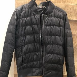 Athleta puffer bomber jacket size Small